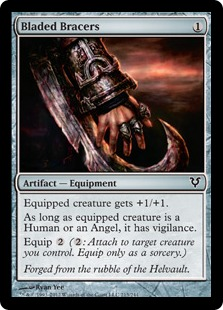 Bladed Bracers Magic Card