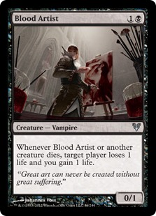 Blood Artist Magic Card