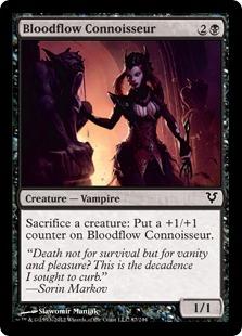 Bloodflow Connoisseur Magic Card