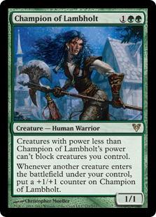 Champion of Lambholt Magic Card
