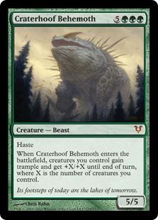 Craterhoof Behemoth Magic Card