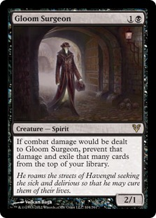 Gloom Surgeon Magic Card