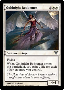 Goldnight Redeemer Magic Card
