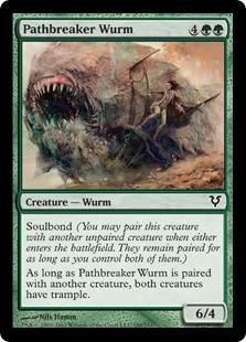 Pathbreaker Wurm Magic Card