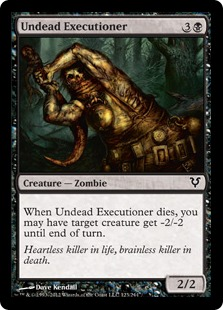 Undead Executioner Magic Card