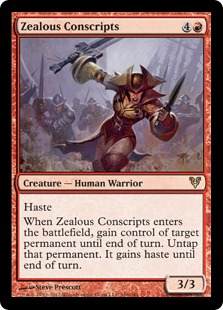 Zealous Conscripts Magic Card