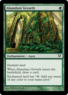 Abundant Growth Magic Card