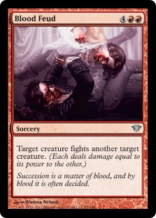 Blood Feud Magic Card