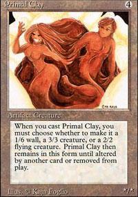 Primal Clay Magic Card