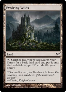 Evolving Wilds Magic Card