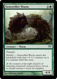 Gravetiller Wurm Magic Card