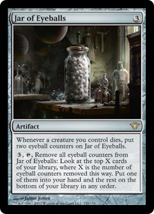Jar of Eyeballs Magic Card