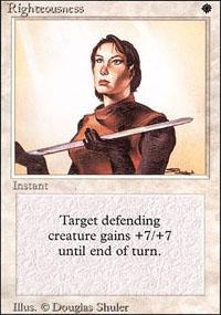 Righteousness Magic Card