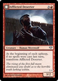 Afflicted Deserter // Werewolf Ransacker Magic Card