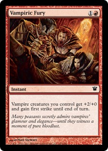 Vampiric Fury Magic Card