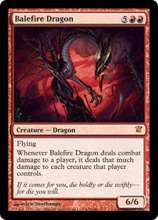 Balefire Dragon Magic Card