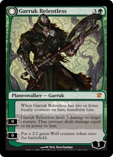 Garruk Relentless // Garruk, the Veil-Cursed Magic Card
