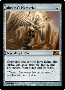 Akroma's Memorial Magic Card