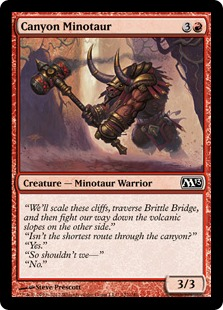 Canyon Minotaur Magic Card