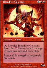 Bloodfire Colossus Magic Card