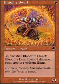 Bloodfire Dwarf Magic Card