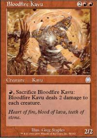 Bloodfire Kavu Magic Card