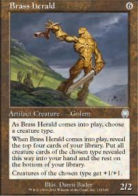 Brass Herald Magic Card