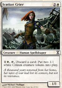 Icatian Crier Magic Card