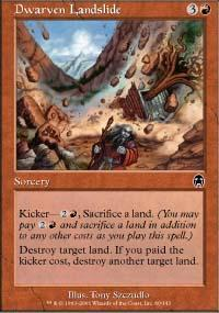 Dwarven Landslide Magic Card