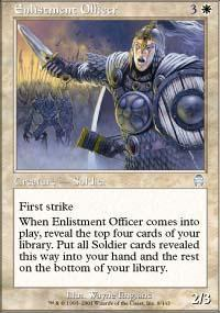 Enlistment Officer Magic Card