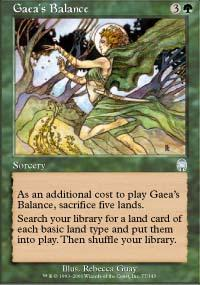 Gaea's Balance Magic Card