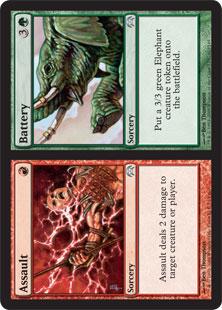 Assault // Battery Magic Card