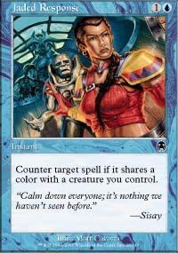 Jaded Response Magic Card