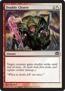 Double Cleave Magic Card
