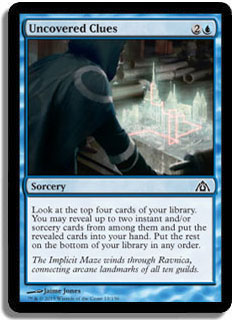 Uncovered Clues Magic Card