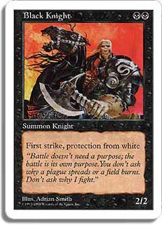 Black Knight Magic Card