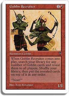 Goblin Recruiter Magic Card