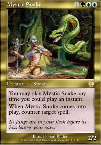 Mystic Snake Magic Card