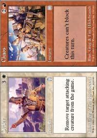 Chaos // Order Magic Card