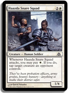 Haazda Snare Squad Magic Card