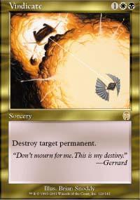 Vindicate Magic Card