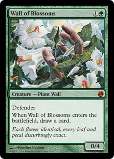 Wall of Blossoms Magic Card