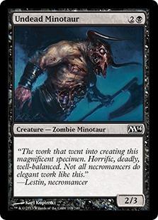 Undead Minotaur Magic Card
