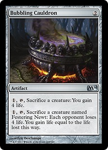 Bubbling Cauldron Magic Card