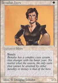 Benalish Hero Magic Card