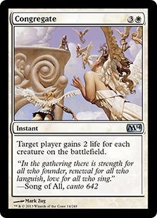 Congregate Magic Card