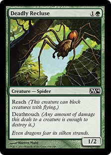Deadly Recluse Magic Card