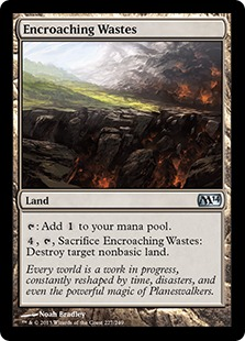 Encroaching Wastes Magic Card