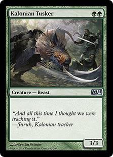 Kalonian Tusker Magic Card
