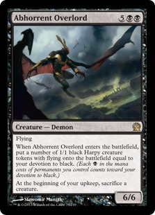 Abhorrent Overlord Magic Card